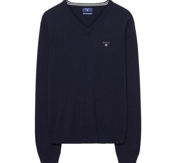Sweater GANT in cuffia lampu - Blu