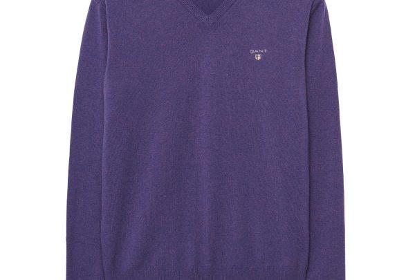 GANT Lambswool-Pullover mit V-Ausschnitt - Lila