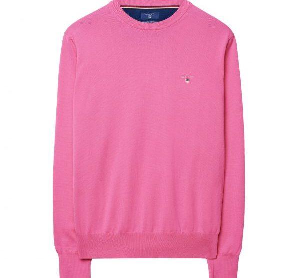 GANT Baumwollstretch Rundhalspullover - Pink