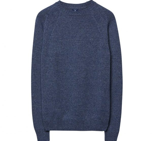 GANT Melange round neck sweater - blue