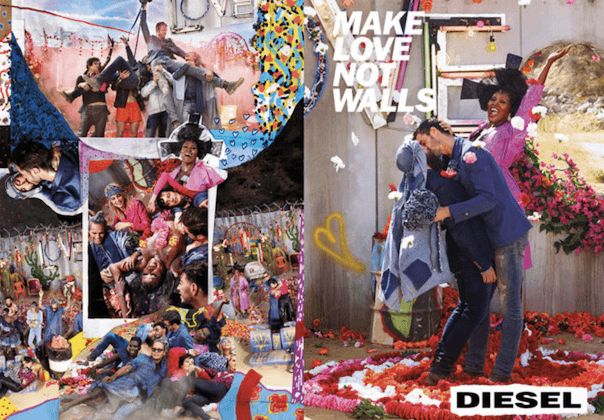 Make Love not Walls: David LaChapelle für Diesel