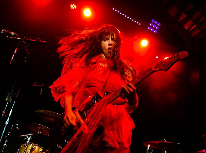 New York City Konzert: Band 'Le Butcherettes'