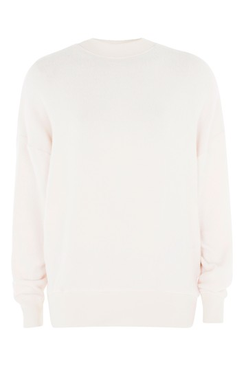 Roughened sweater with batwing sleeves - pink