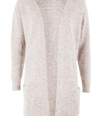 Oversized cardigan with pockets - pastel pink