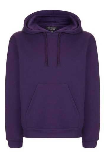 Oversized hooded sweater petite - violet