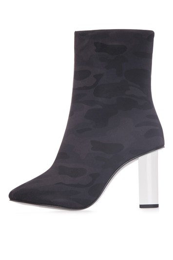 MATCHSTICK Camouflage patterned boots - navy