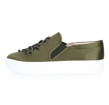 TWINKLE Slip on trainers - khaki