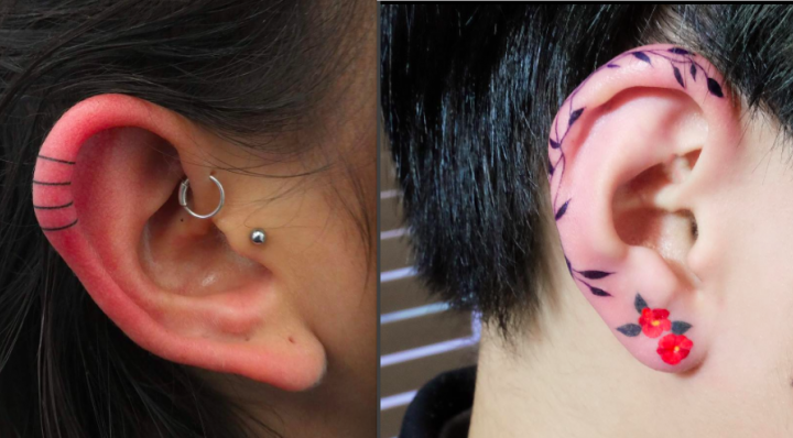 Helix-Tattoo anstatt Piercing