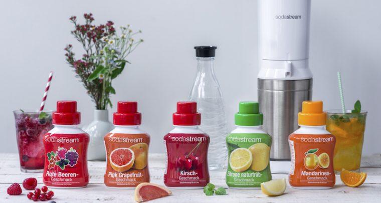Prickelnde Erfrischung mit den Frucht-Sirups von SodaStream