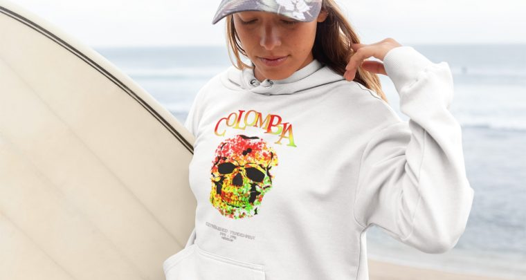 """X-Sicario COLOMBIA FARBENTOT-Hoodie!"" – ""NEW Popeye-Fashion: FOR HER!"" – Shirts & Hoodies! – SHOP NOW!"