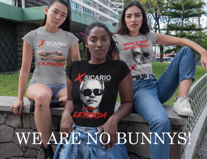 "WE ARE NO BUNNYS! – ""X-Sicario NEW Popeye Fashion: FOR HER!"" – Shirts & Hoodies! – OUT NOW!"