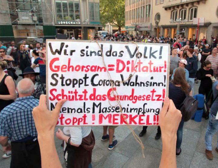 Dimostrazioni anti-corona in Germania - l'umore hè cambiatu!