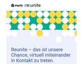 Einladung zu Reunite! – Shopify's allererstem Livestream für Geschäftsinhaber*innen!